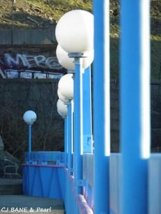 Blue lampost