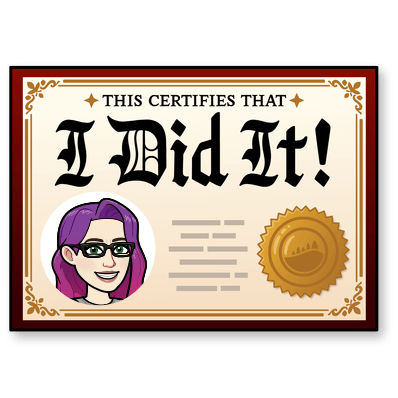 "Celebratory ""I Did It!"" Bitmoji"