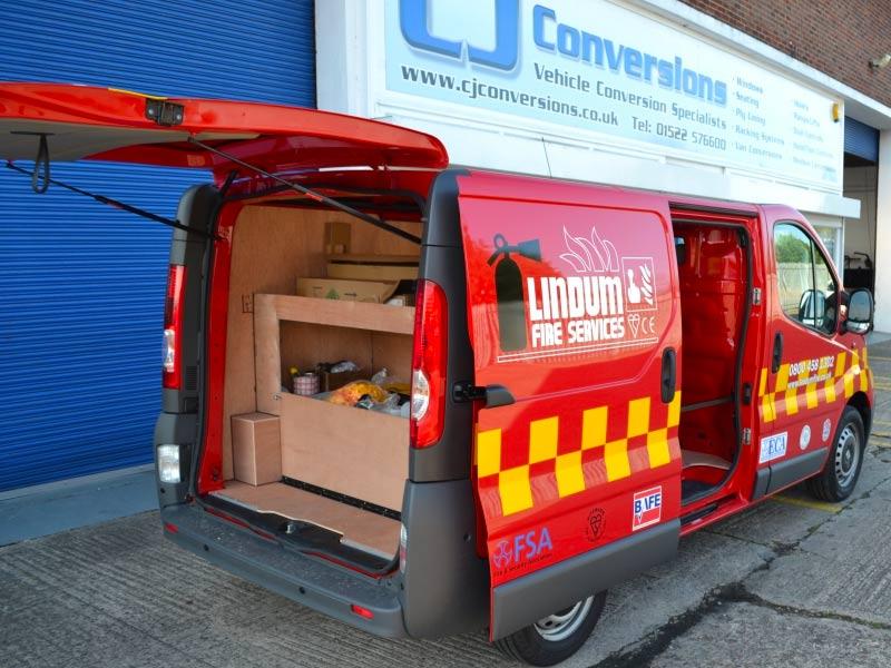 Lindum Fire Service Van Conversion