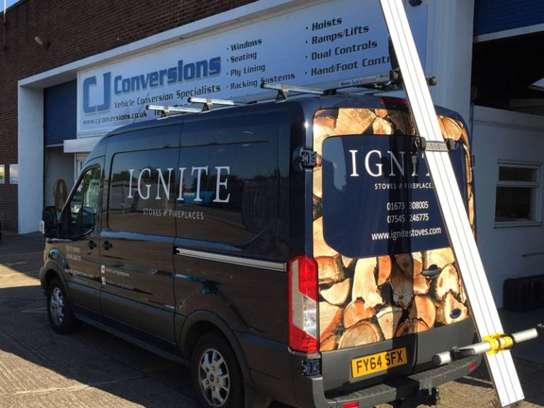 Ladder Racking Commercial Vehicle Adaptation