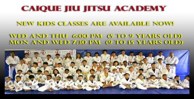 Caique Jiu Jitsu New kids martial arts classes