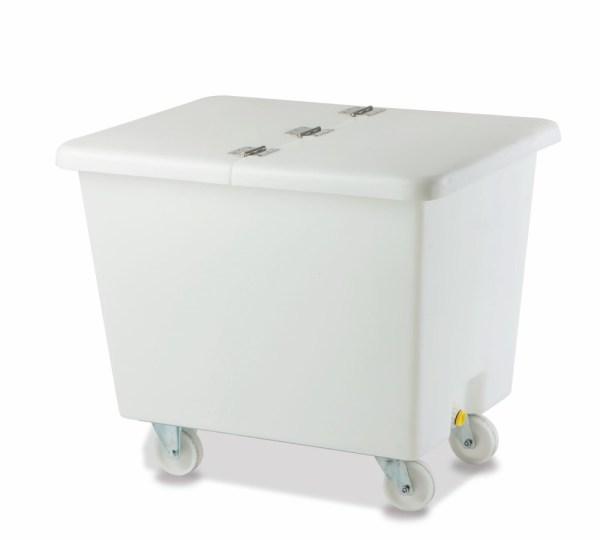 Chariot en plastique avec couvercle Caddie BACTAINER 180Lt / 360Lt