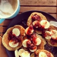 Espresso Chai Pancakes & Sweet Plum Chutney