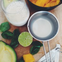 Tropical Avocado Mango & Coconut Green Smoothie