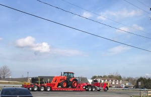 Picture of tractor on the road
