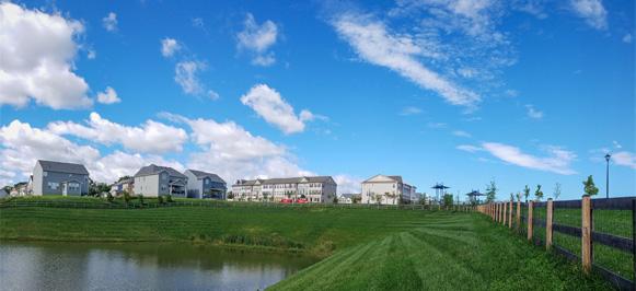 Photo of the new homes at Tallyn Ridge