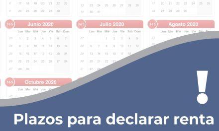 Plazos para declaración de renta para el 2020