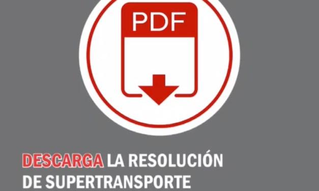 Descarga Vencimiento de términos para presentación de información subjetiva sector transporte