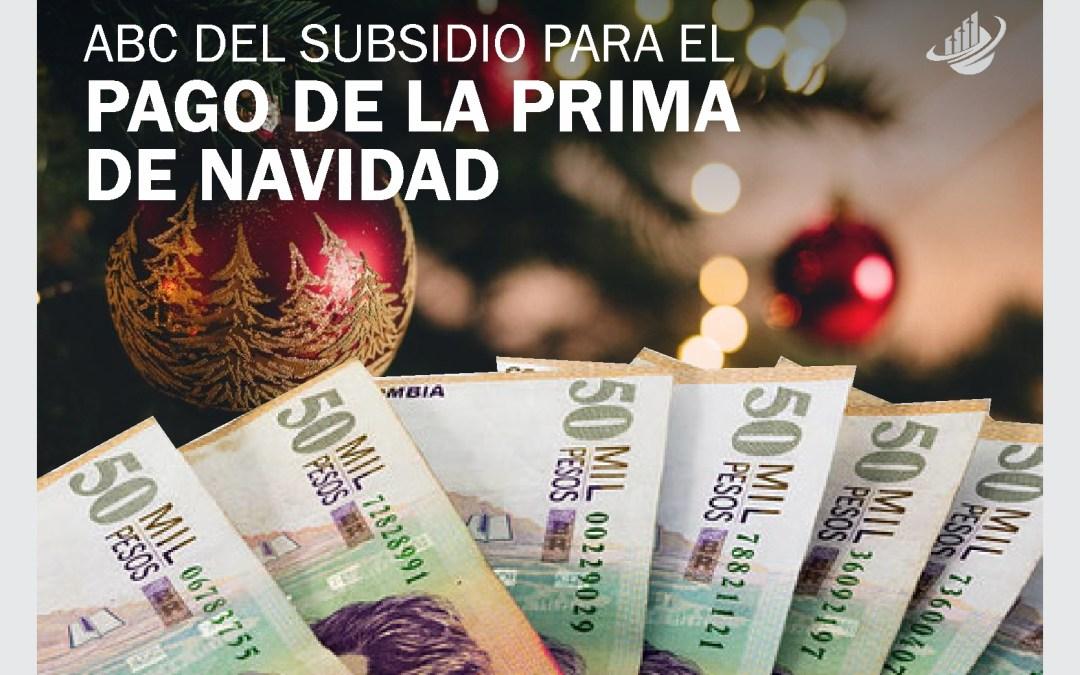 ABC del subsidio para el pago de la prima de Navidad