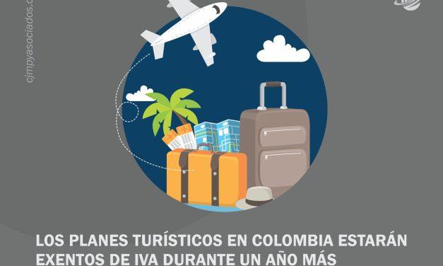 Los planes turísticos en Colombia estarán exentos de IVA durante un año más