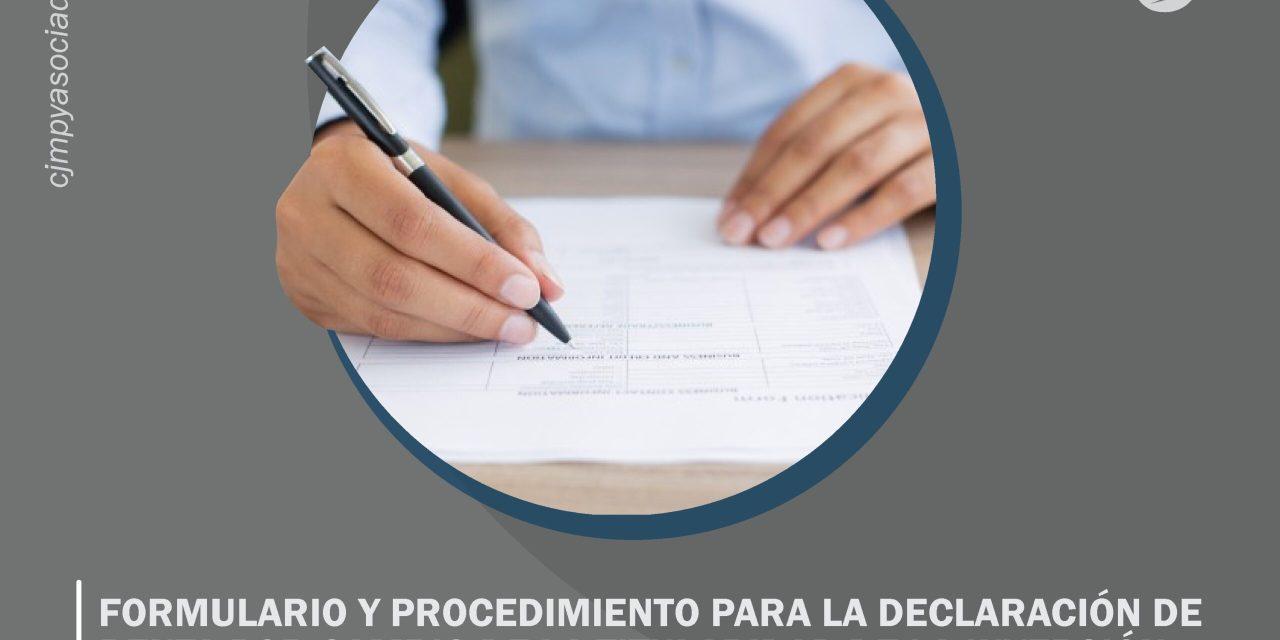 Formulario y procedimiento para la declaración de renta por cambio de la titularidad de la inversión extranjera directa y enajenaciones indirectas