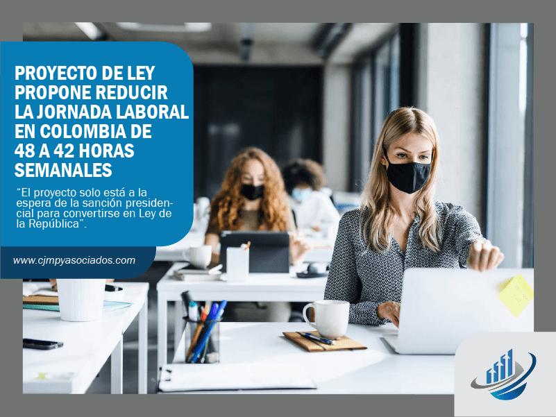 Proyecto de ley propone reducir la jornada laboral en Colombia de 48 a 42 horas semanales