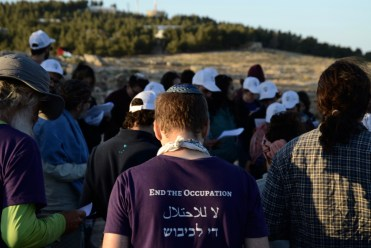 Praying Friday Evening at Sumud: Freedom Camp