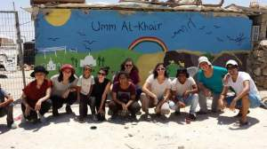 Painting a Mural on the Community Center in Umm Al-Khair
