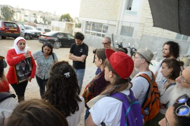 Joining a solidarity demonstration in support of Palestinian prisoners on hunger strike, Sheikh Jarrah, East Jerusalem
