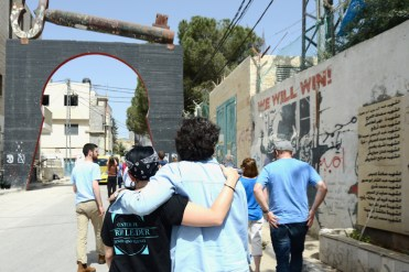Orienting to Bethlehem, our base during the delegation; a visit to Aida Refugee Camp