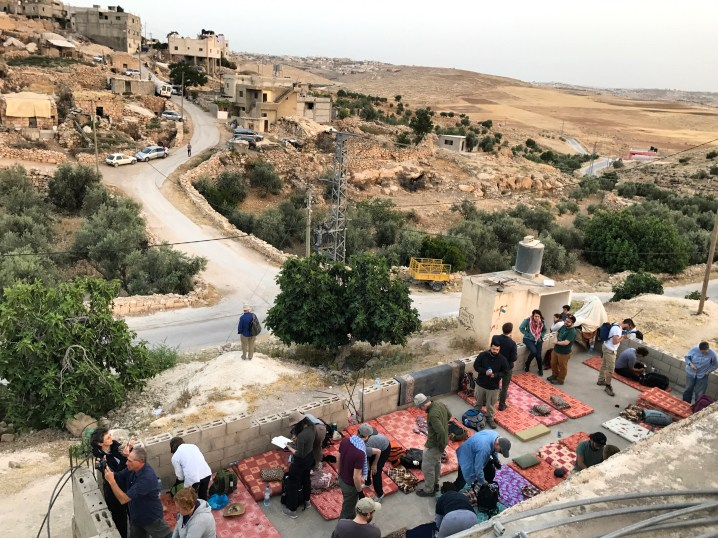Waking up to walk to Sarura and launch Sumud: Freedom Camp