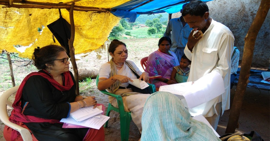 Teesta Setalvad and Roma talk to Adivasi Human Rights Activists and Forest Dwellers in Sonbhadra, UP, India
