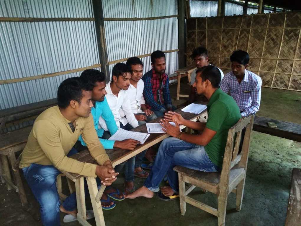 Shajahan Ali Ahmed, Volunteer Motivator, Baksa attended a training program on how to fill one's own and one's neighbour's NRC claim form, organised by Azibar Hoque, NSK level volunteer, in Baksa.