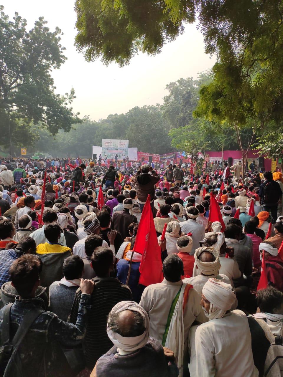 The gathering at Jantar Mantar, New Delhi