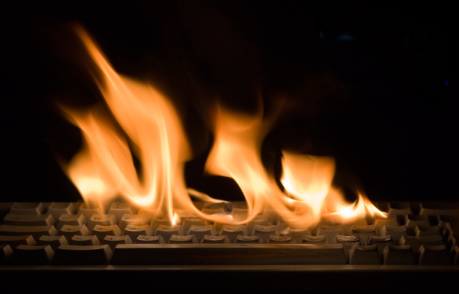 Burning Keyboard with Thermal Image
