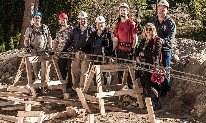 Rebar fabricators on the job site