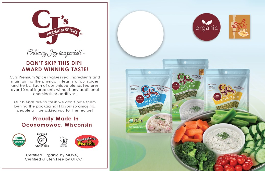 Organic Foods, CJ's Premium Spices Products