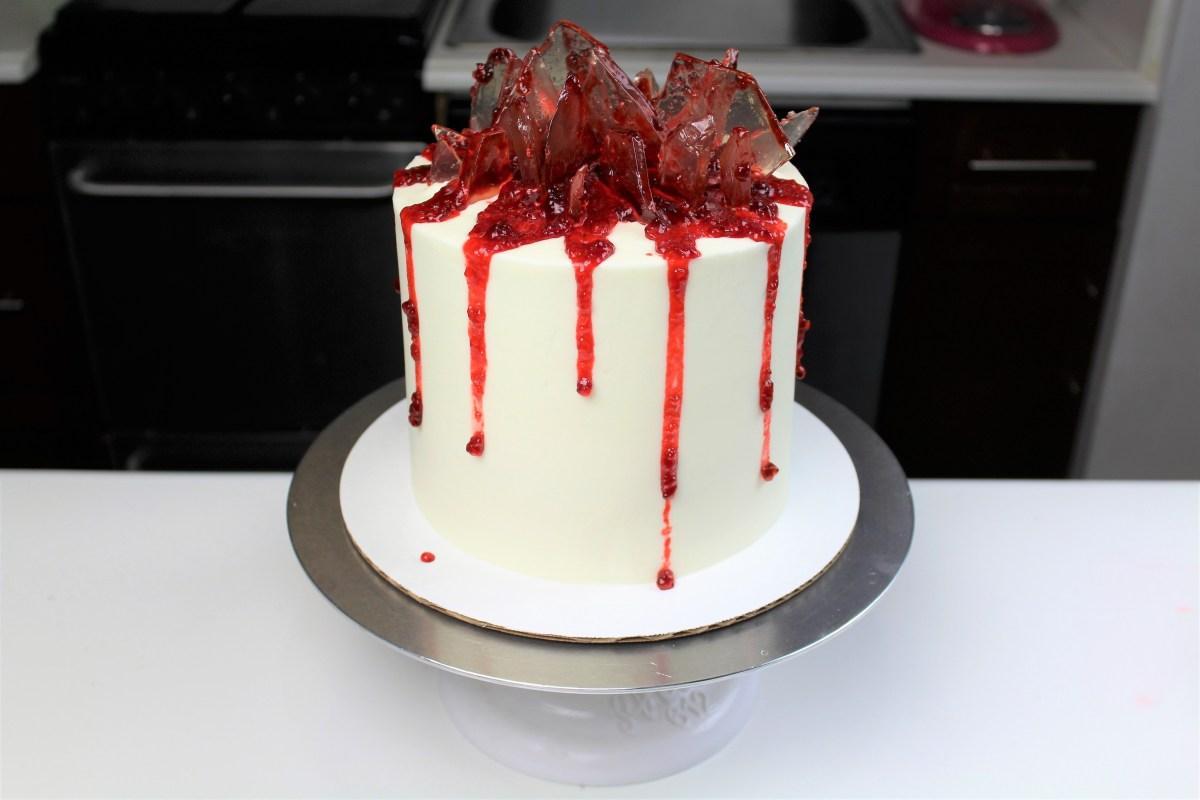 Chelsweets Shattered Glass Cake Chelsey White