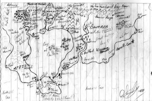 Map of Ketania | The Bantara Chronicles | Calvin Jones
