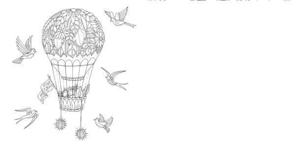 Раскраски шара, Раскраска Птицы летают возле воздушного ...
