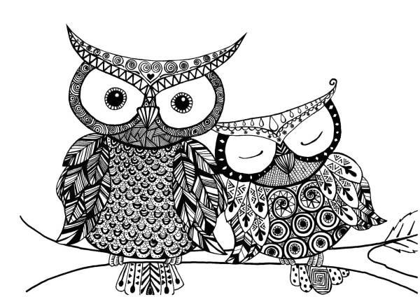 Раскраски ночные птицы , Категория.