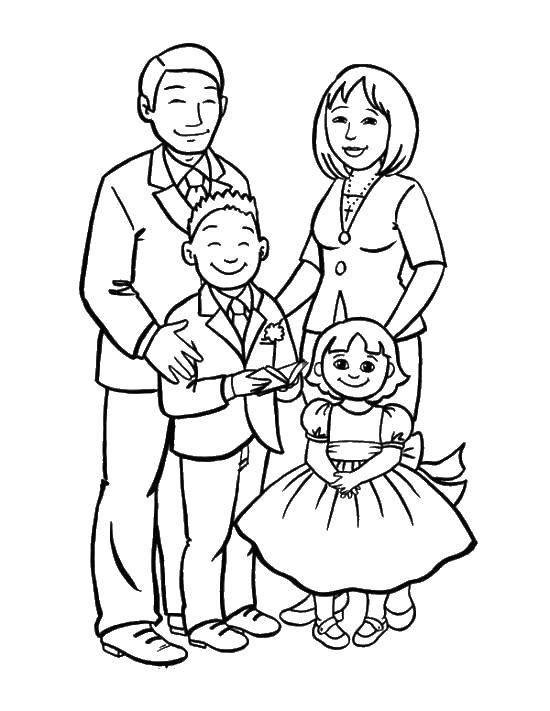 Раскраски семье, poisk.