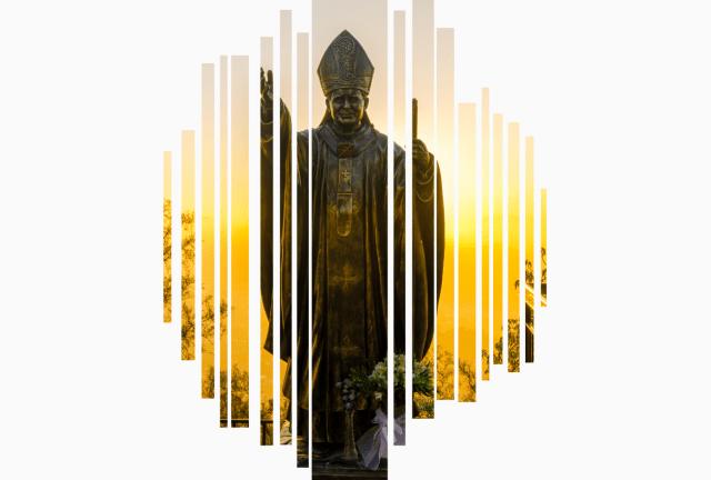 pomnik Jana Pawła II w Leńczach