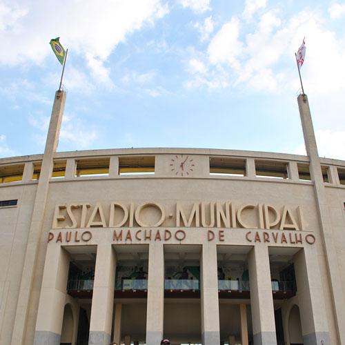Visita ao Museu do Futebol no Estádio do Pacaembu em São Paulo