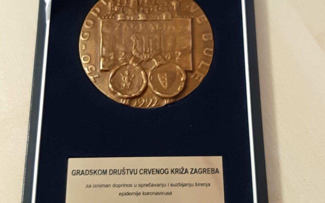 Medalja Grada Zagreba za GDCK Zagreb