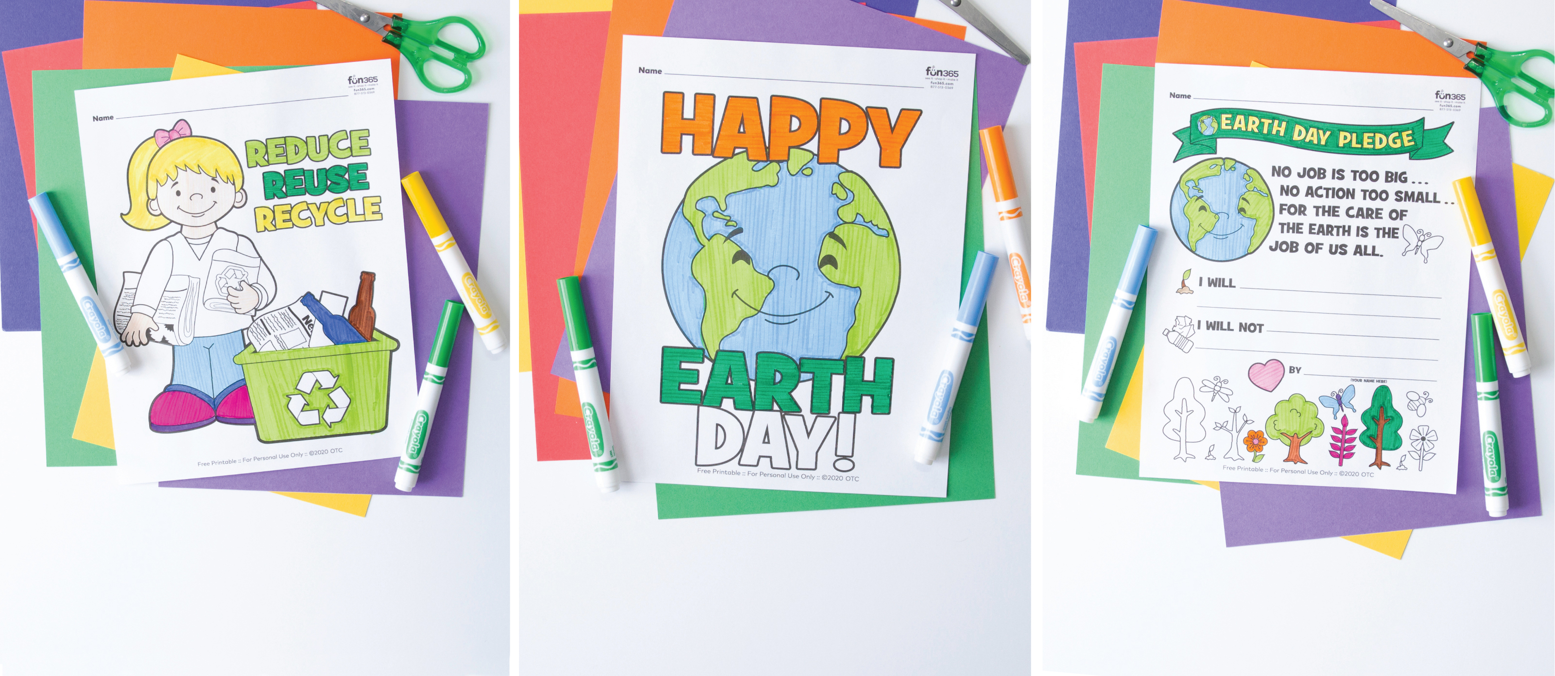 Free Earth Day Coloring Pages Fun365
