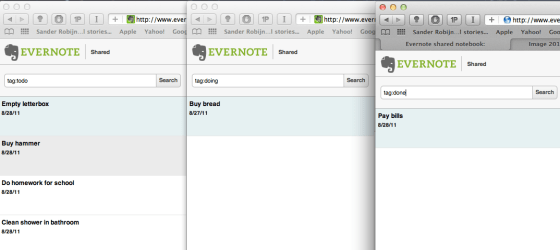 Using multiple browsers for a Kanban board view