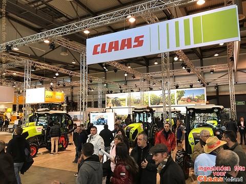 Claas Nexos serie op een Franse beurs.