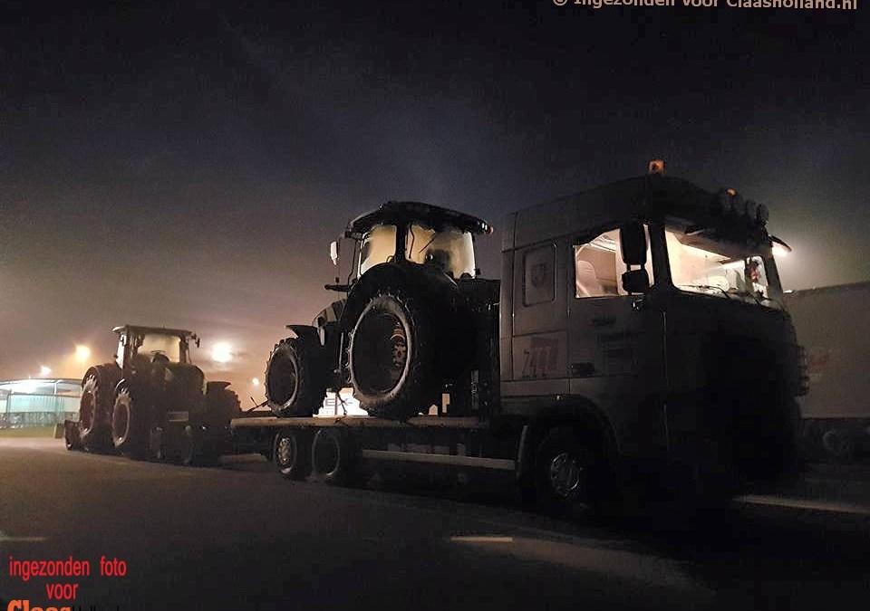 Claas machines op transport met van Der Vlist Twente. Deel 3.