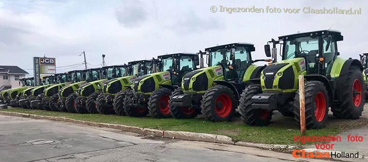 Claas Axion 800 series in Noord Amerika.