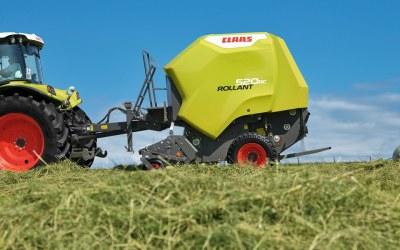 Nieuwe rondebalen pers de Rollant 520.