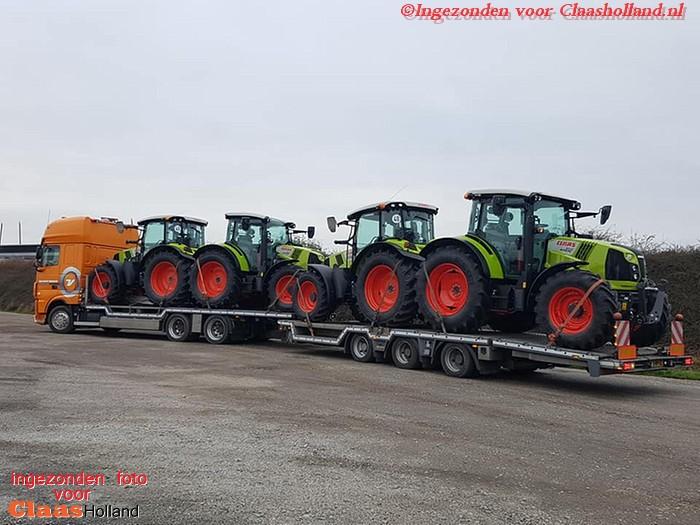 Claas machines op transport door van Der Vlist Twente deel 15
