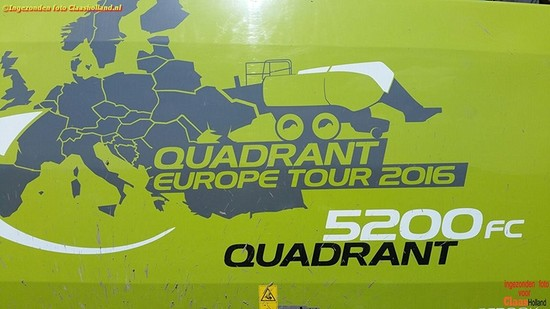 Stro persen met de Claas Quadrant Europe Tour.