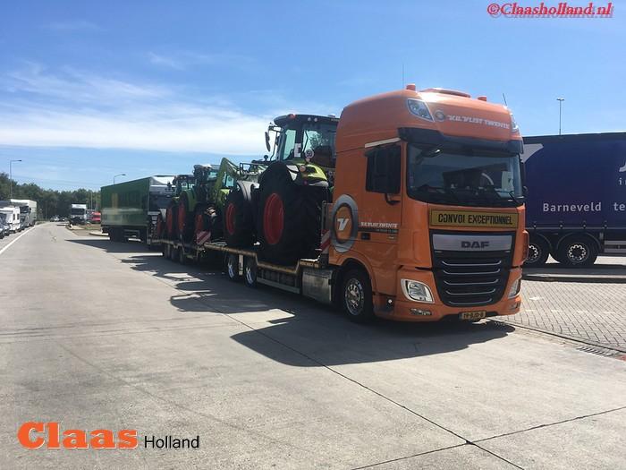 Claas machines op transport door van Der Vlist Twente deel 14