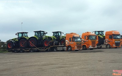 200 Claas tractoren in 5 weken op transport.
