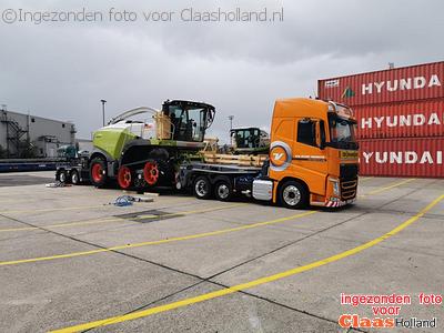 Claas machines op transport door van Der Vlist Twente deel 18 *Noord America*