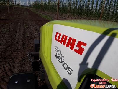CLAAS NEXOS 210 VL afgeleverd voor de hopteelt.