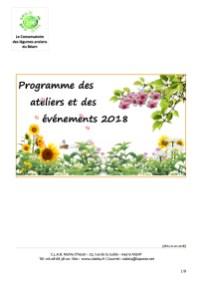 Plaquette des activités 2018