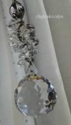 Topには、クリスタルガラス(※30mm)使用。 アクセントの八角ガラスもキラキラ輝きます☆