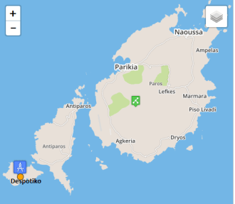 Despotiko map